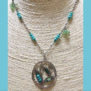 SILPADA 925 Turquoise Howlite Necklace N2193